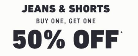 Jeans & Shorts Buy One, Get One 50% Off from Hollister Co.