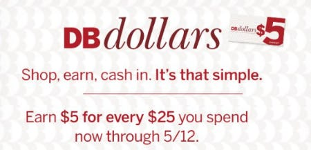 Earn $5 for Every $25 You Spend from Dressbarn