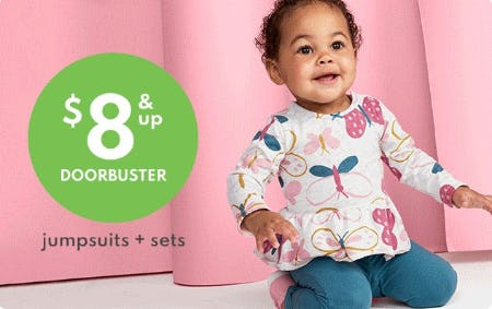 $8 & Up Doorbuster Jumpsuits + Sets from Carter's