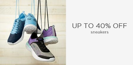Up to 40% Off Sneakers