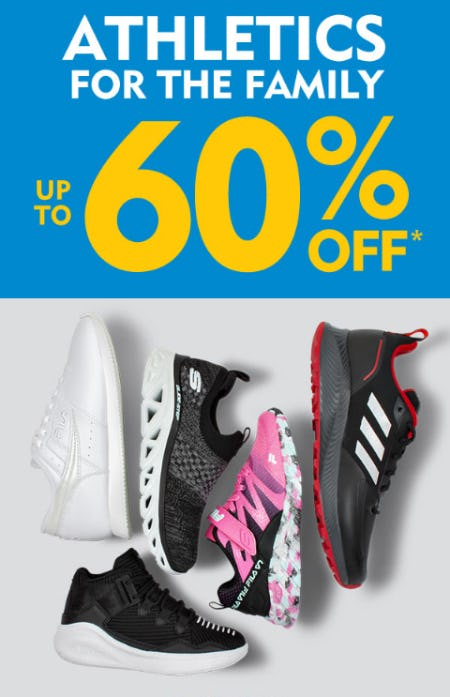 Up to 60% Off on Athletics for the Family from Shoe Carnival