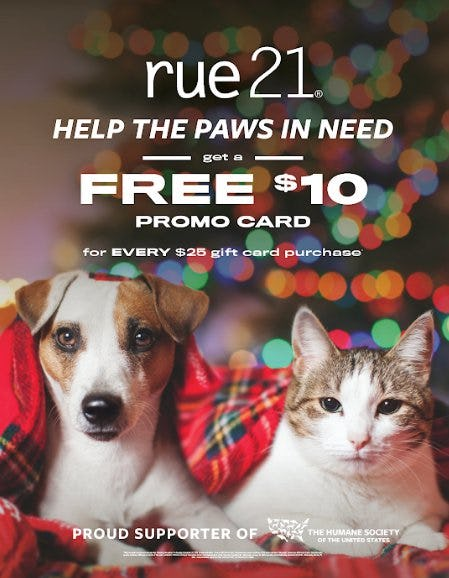 Gift Card Promotion from rue21