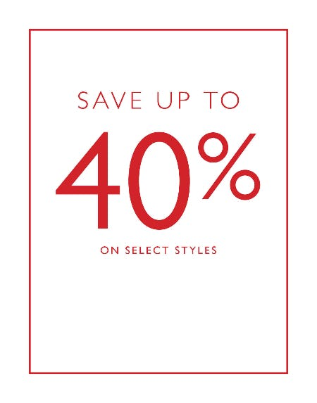 Save Up to 40% Off from Clarks