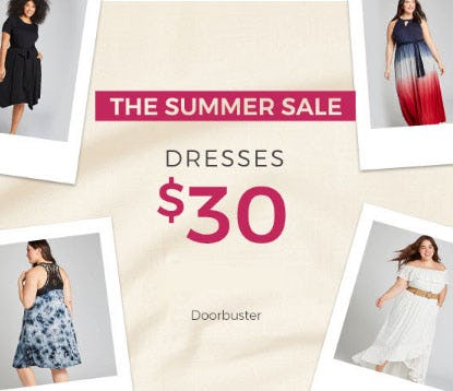 Doorbuster Dresses $30 from Lane Bryant