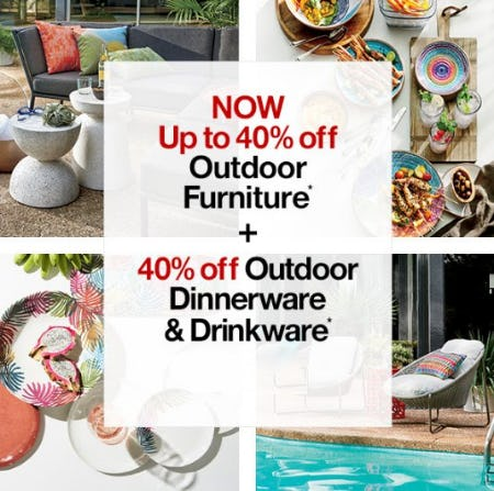 Now up to 40% Off Outdoor Furniture from Crate & Barrel