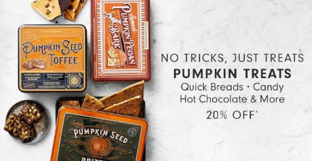 20% Off Pumpkin Treats from Williams-Sonoma