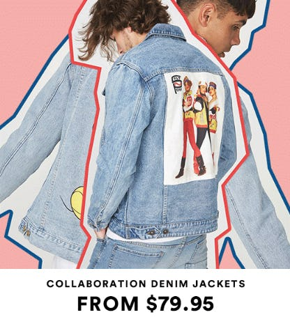 Collaboration Denim Jackets from $79.95 from Cotton On