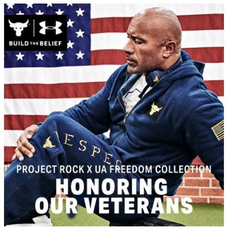 New Project Rock x UA Freedom Gear from Under Armour