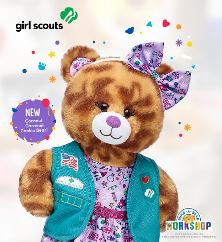 Make Your Own Coconut Caramel® Cookie Bear at Build-A-Bear Workshop!®