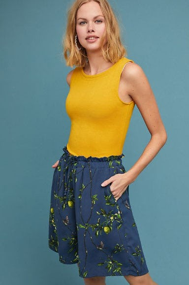 Lemon Bermuda Shorts from Anthropologie