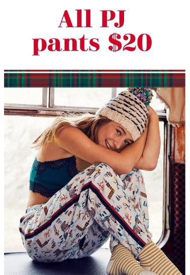 All PJ Pants $20 from Aerie