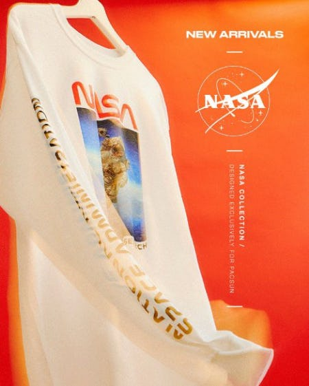 The NASA Logo Long Sleeve T-Shirt from PacSun