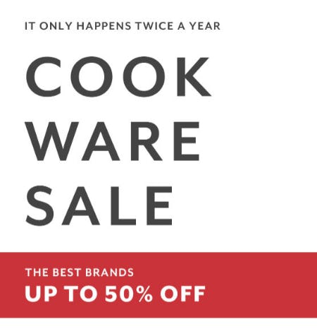 Up to 50% Off Cookware Sale
