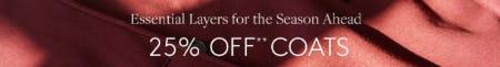 25% Off Coats from Club Monaco