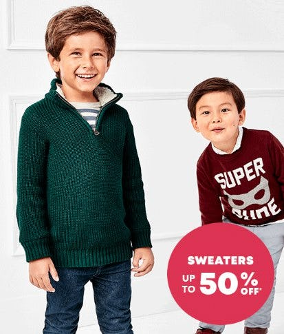 Sweaters up to 50% Off from The Children's Place