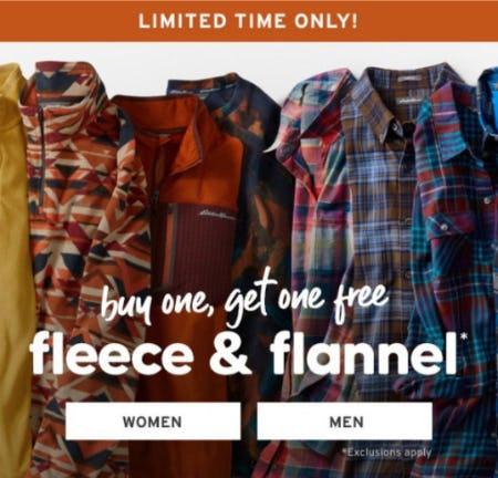BOGO Free Fleece & Flannel