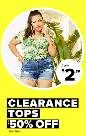 Up to 50% Off Clearance Tops