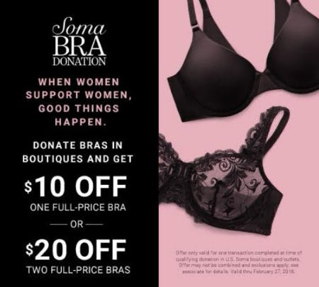 BRA DONATION EVENT from Soma Intimates