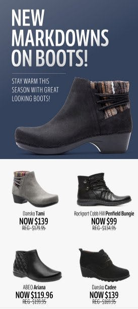 New Markdowns on Boots from THE WALKING COMPANY