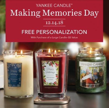 Making Memories Day from Yankee Candle