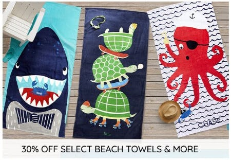 30% Off Select Beach Towels and More from Pottery Barn Kids