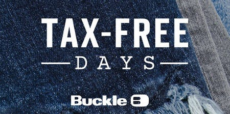 Virginia Tax-Free Days are August 6 - 8 from Buckle