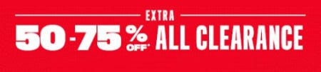 Extra 50-75% Off All Clearance
