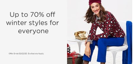 Up to 70% Off Winter Styles for Everyone from Sears