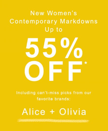 Up to 55% Off New Women's Contemporary Markdowns