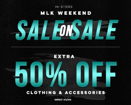 Extra 50% Off Sale from Tillys