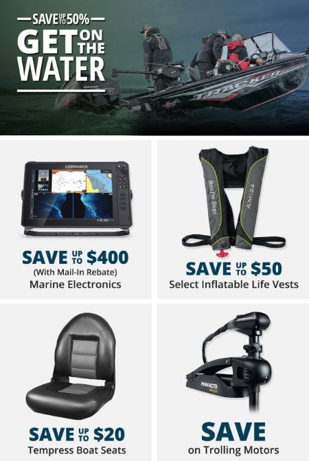 Save Up to 50% on Marine Gear and More from Cabela's