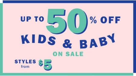 Up to 50% Off Kids & Baby on Sale from Old Navy