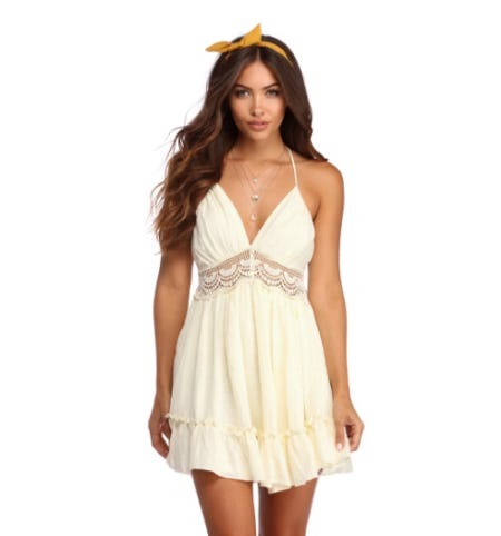 Sweeter Than Honey Crochet Dress