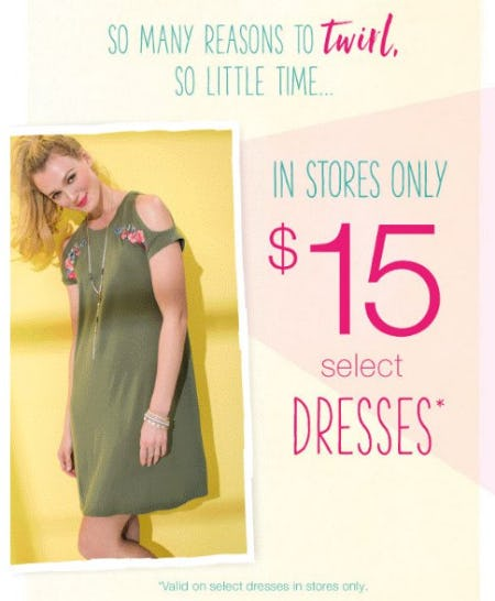 8a9afc74289a Sale at maurices.  15 Select Dresses