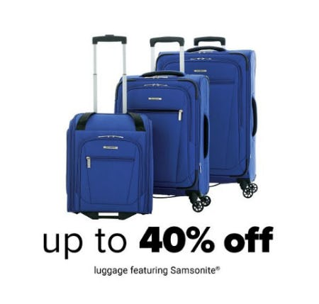 Up to 40% Off Luggage from Belk