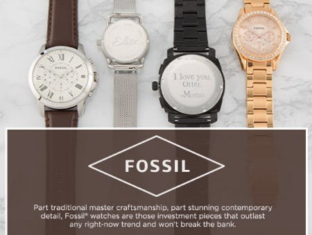 It's All in the Wrist with Fossil from Things Remembered