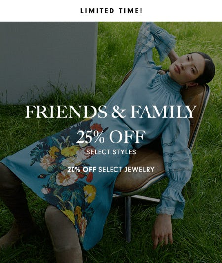 25% Off + 20% Off Jewelry For Our Friends & Family from Neiman Marcus