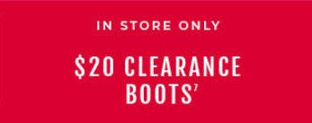 $20 Clearance Boots