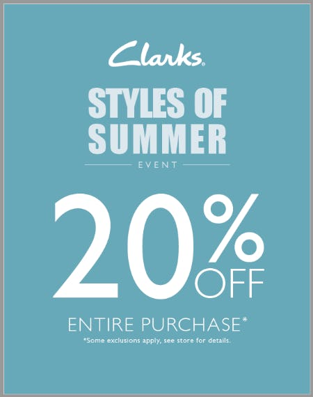 Take 20% Off Your Entire Purchase