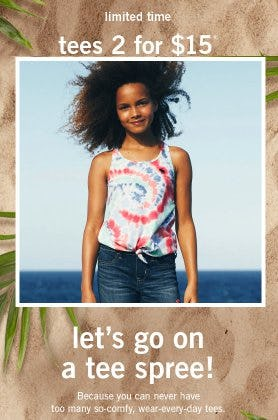 Tees 2 for $15 from Abercrombie Kids