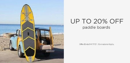 Up to 20% Off Paddle Boards
