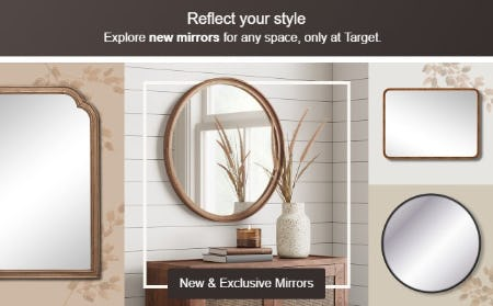New & Exclusive Mirrors from Target