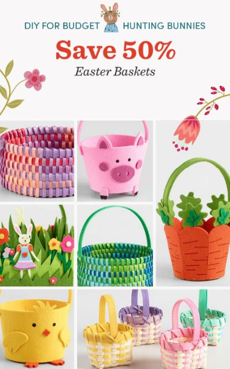 Save 50% Easter Baskets from Cost Plus World Market