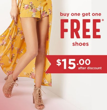 Buy One, Get One Free Shoes from rue21