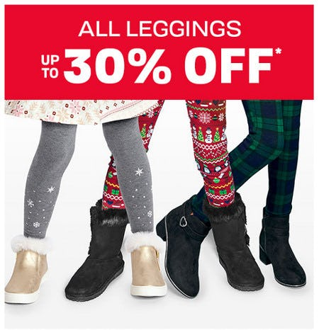 All Leggings Up to 30% Off from The Children's Place