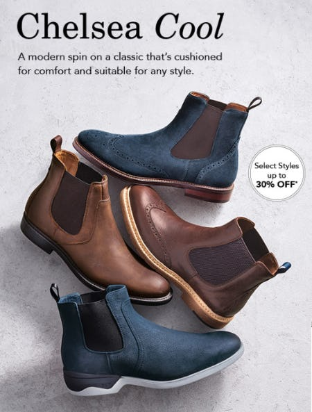 Up to 30% Off Chelsea Cool from JOHNSTON & MURPHY