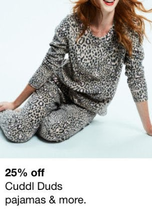 25% Off Cuddl Duds Pajamas and More