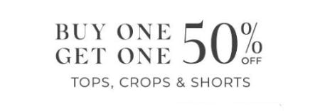 Buy One, Get One 50% Off Tops, Crops & Shorts from Lane Bryant