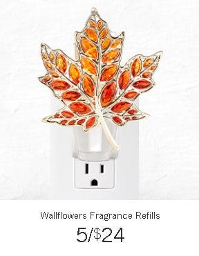 Wallflowers Fragrance Refills 5 for $24 from Bath & Body Works/White Barn