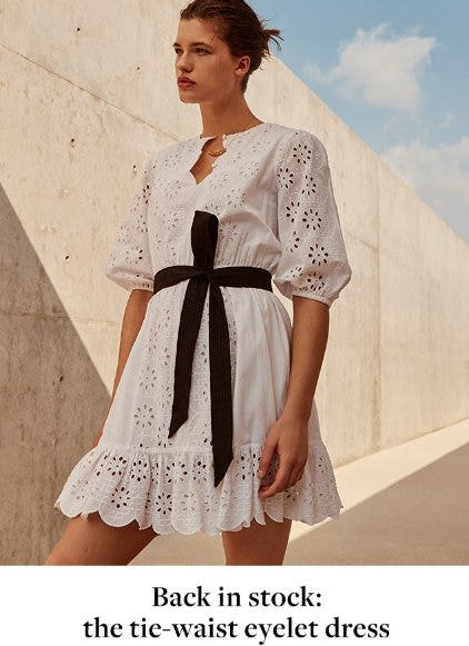 Back in Stock: The Tie-Waist Eyelet Dress from J.Crew